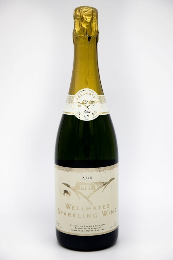 Wellhayes Sparkling Wine is made on site from grapes grown in the Vineyard in the rolling hills of mid Devon. Each year is different.